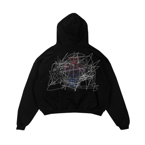 CROSSTHORNS HOODIE BLACK
