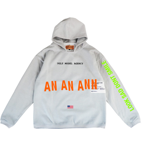 UGLY MODEL AGENCY OVERSIZED HOODIE GRADIENT