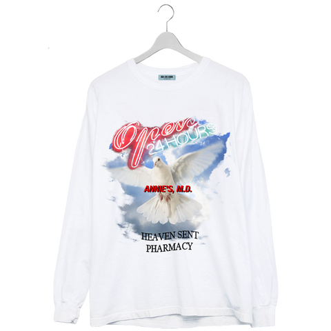 HEAVEN SENT LONG SLEEVE WHITE