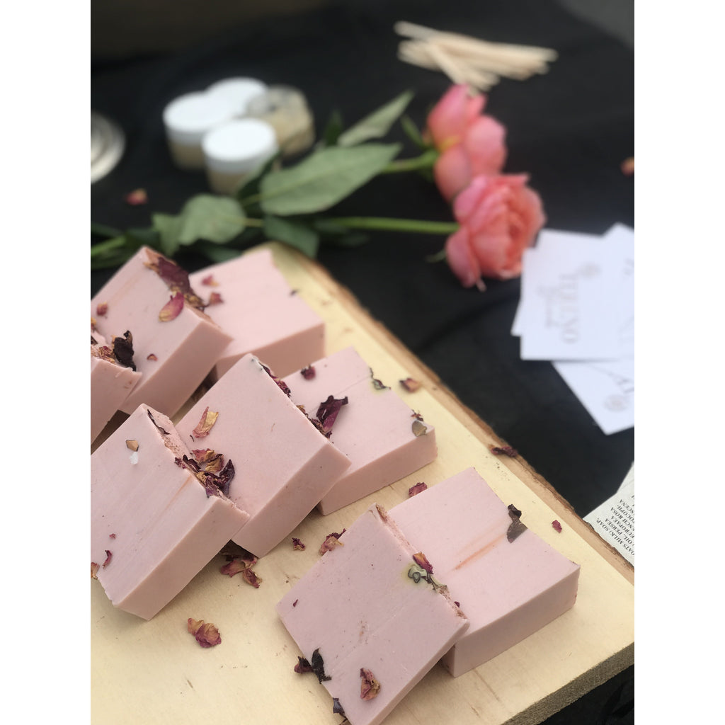 French pink clay soap bar