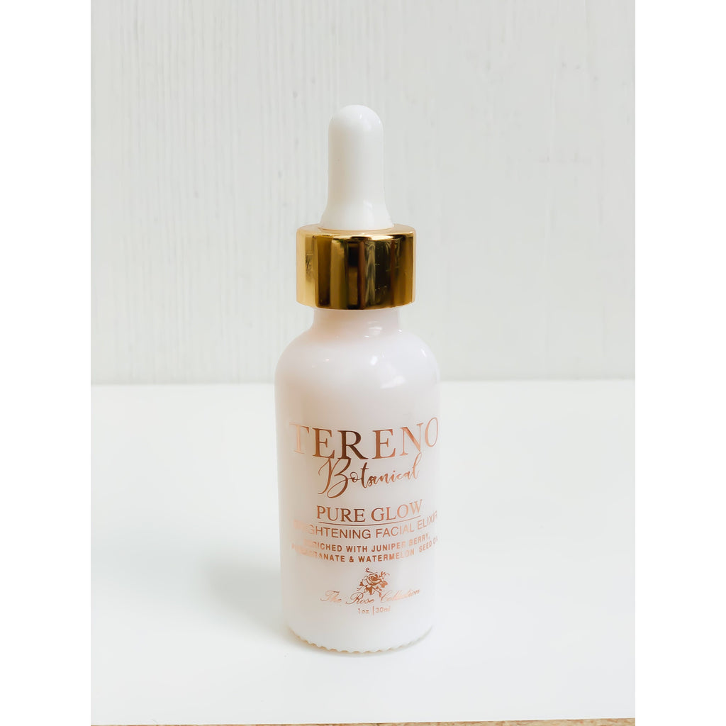 Natural face product Pure Glow Brightening Facial Elixir from Tereno Botanicals.