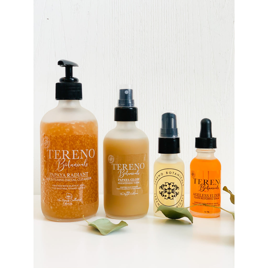 Night Routine with papaya collection & Ageless elixir - Tereno Botanicals