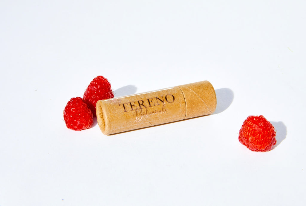 Raspberry Luxury Lip & Skin Balm: Hydrating Silky Balm Made With Raspberry Seed Oil For A Natural SPF | Biodegradable Packaging - Tereno Botanicals