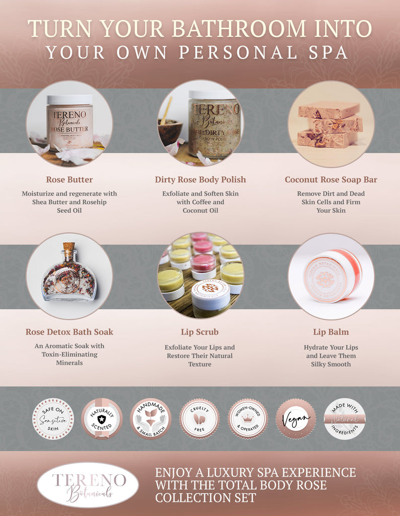 Total Body Rose Collection – All Natural Beauty Products - Tereno Botanicals
