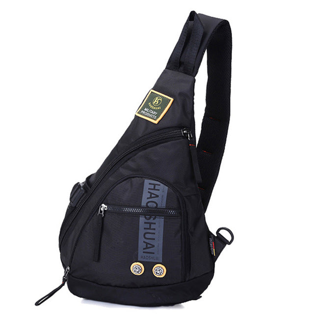 a3e29dade8e1 High Quality Waterproof Oxford Men Single Shoulder Cross Body Bag Military  Travel Sling Rucksack Chest Back