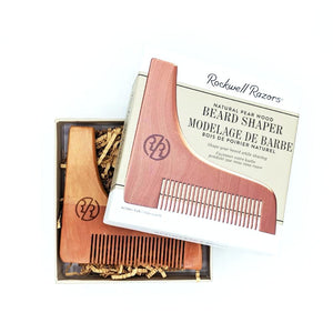 Rockwell Razors Beard Shaper Natural Pear Wood - hipstor inc.