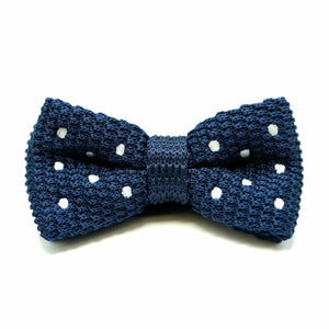 Poky Dot Bow Tie Blue - hipstor inc.