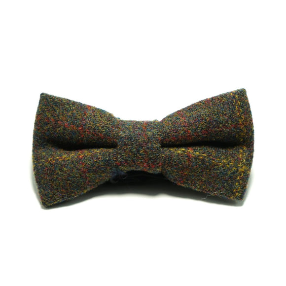 Plaid wool bow tie - hipstor inc.
