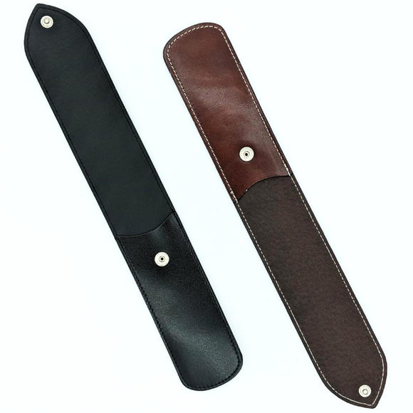 Dovo Leather Sheath for One Straight Razor (Brown/Black) - hipstor inc.