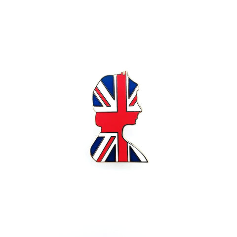 Queen Elizabeth The Second UK Flag Pin - hipstor inc.
