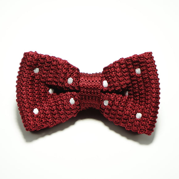 Poky Dot Bow Tie Red - hipstor inc.