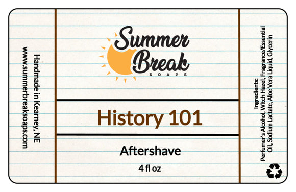 History 101 Aftershave (New Formula)