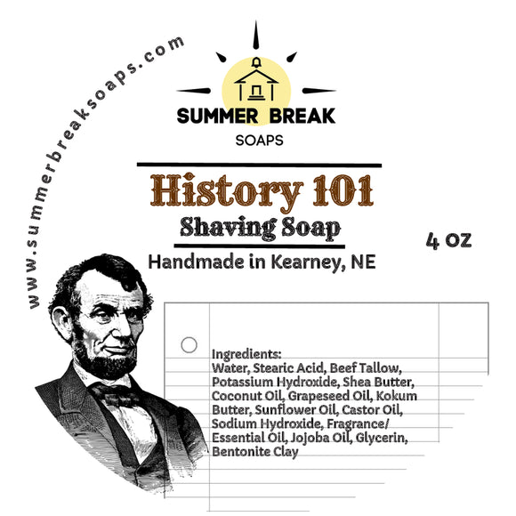 History 101 Shaving Soap (Original Base)