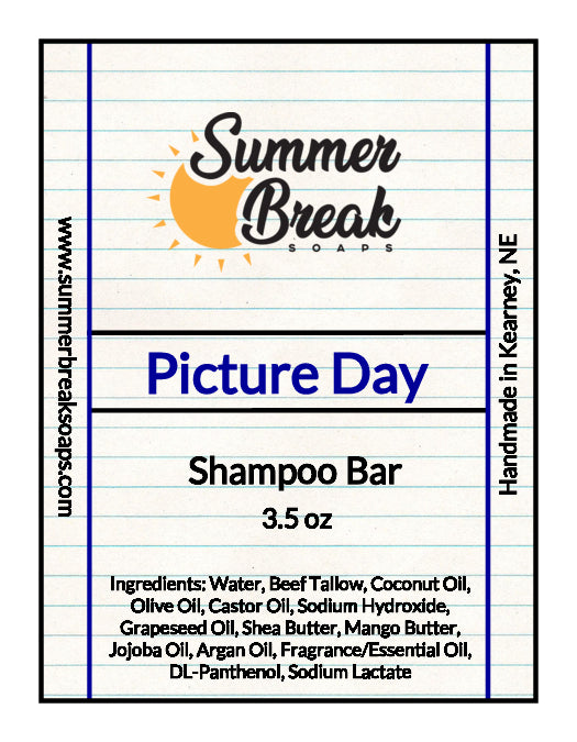 Picture Day Shampoo Bar