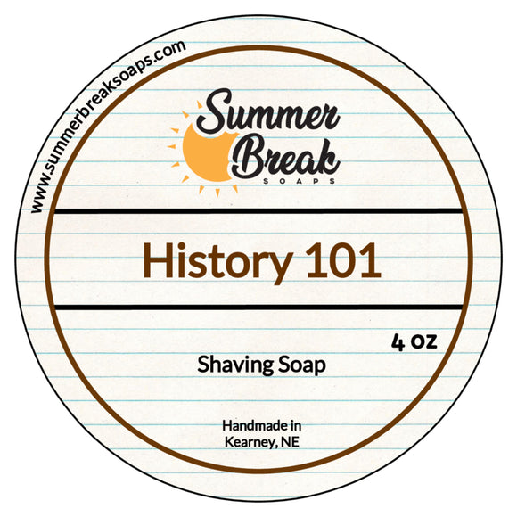 History 101 Shaving Soap (New Base)