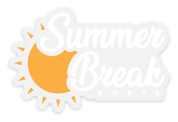 Summer Break Soaps Clear Sticker