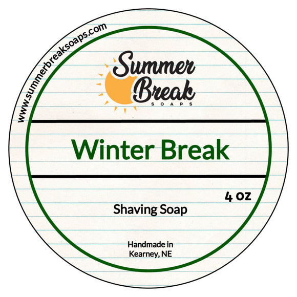Winter Break Shaving Soap (New Base)
