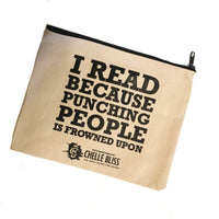 I READ BECAUSE POUCH