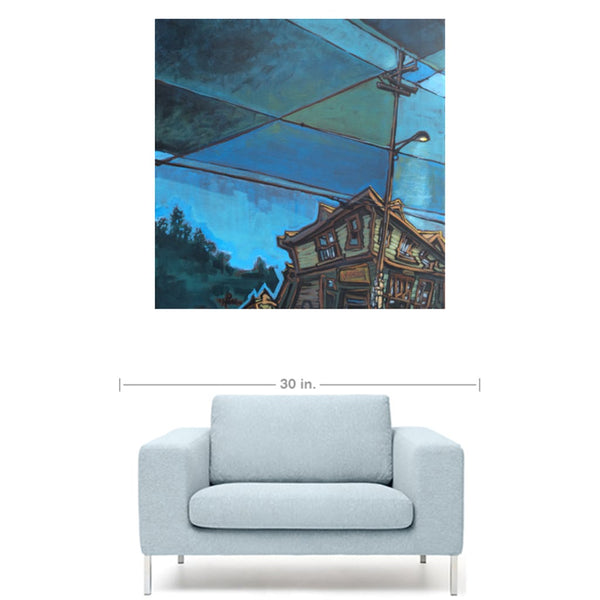 Blue Tin, Gallery Wrapped canvas prints