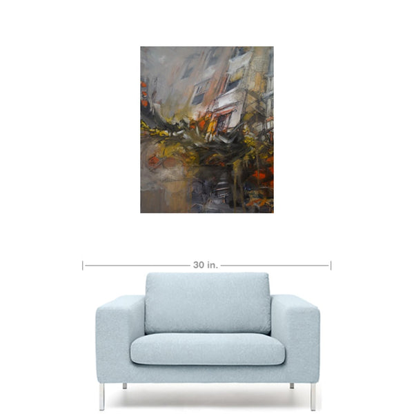 Nervous Anxiety 1, canvas print