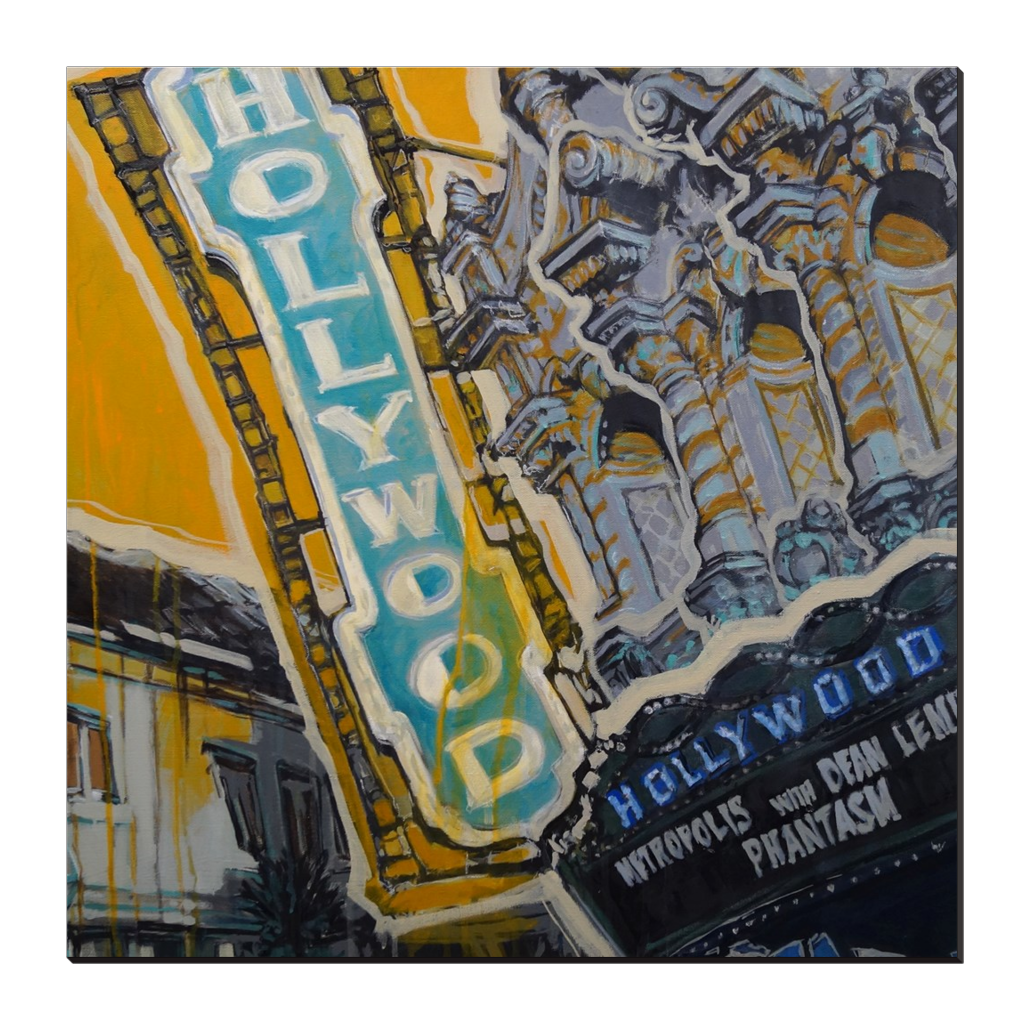 Hollywood Theater square, Gallery Wrapped Canvas Prints