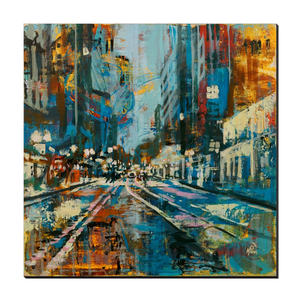 Tracks in the Rain, Gallery Wrapped Canvas Prints