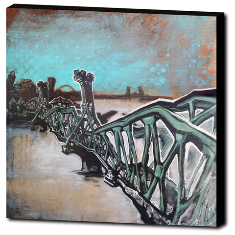 Hawthorne Bridge 3, Gallery Wrapped Canvas Prints