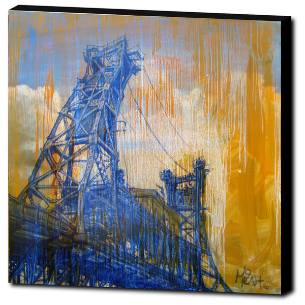 Steel Bridge Gallery Wrapped Canvas Print
