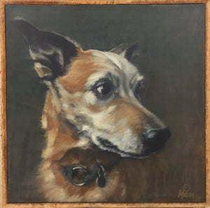 12in x 12in custom Pet Portrait commission order