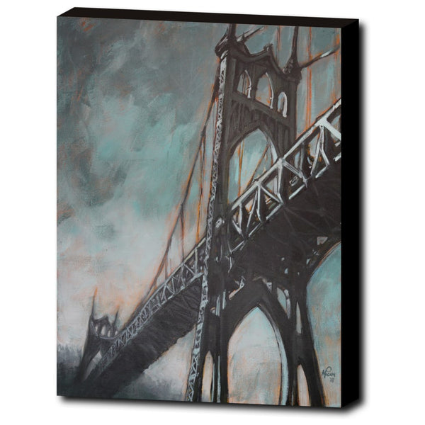 St. John's Bridge, Gallery Wrapped Canvas Prints