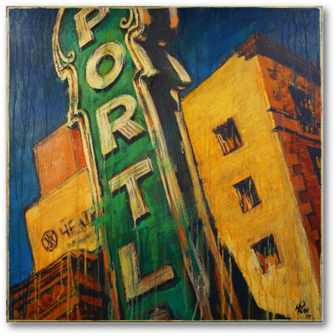 Portland Sign, Gallery Wrapped Canvas Prints