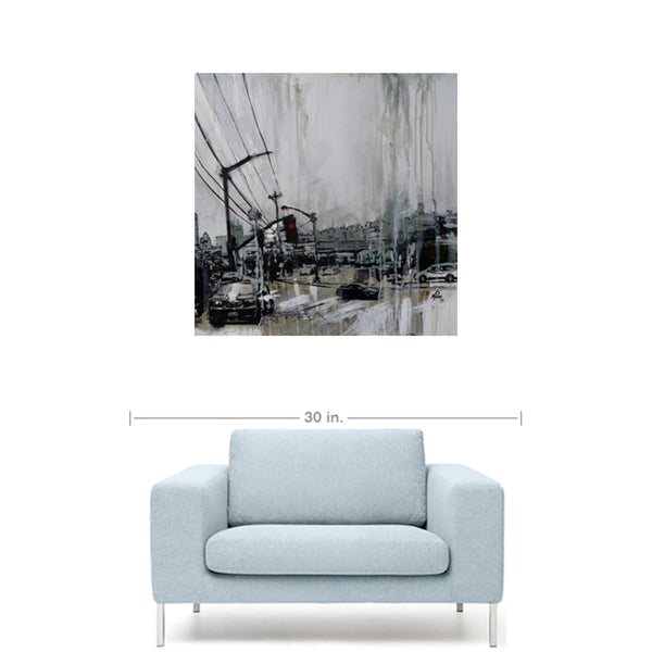 Street scene with Newsprint, Gallery Wrapped Canvas Prints