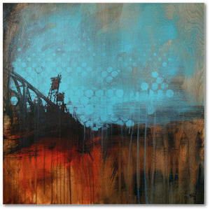 Hawthorne with Blue Circles, Gallery Wrapped Canvas Prints by Micah Krock