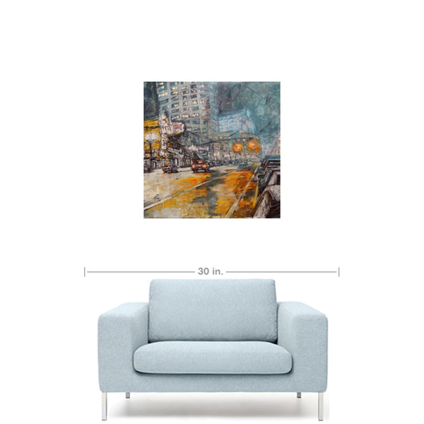 Portland Night, Gallery Wrapped Canvas Prints