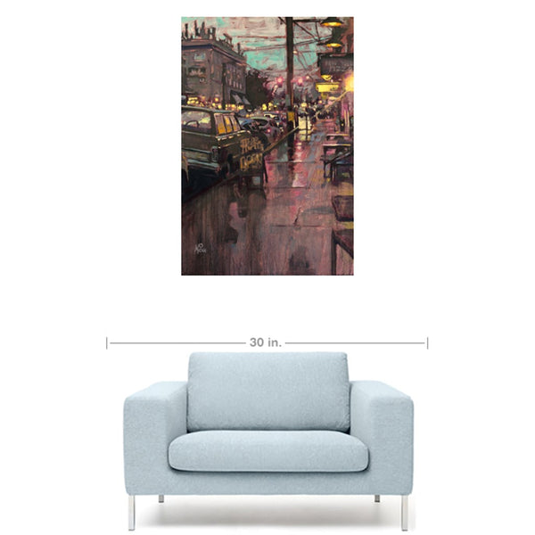 Rainy Belmont Gallery Wrapped Canvas Prints