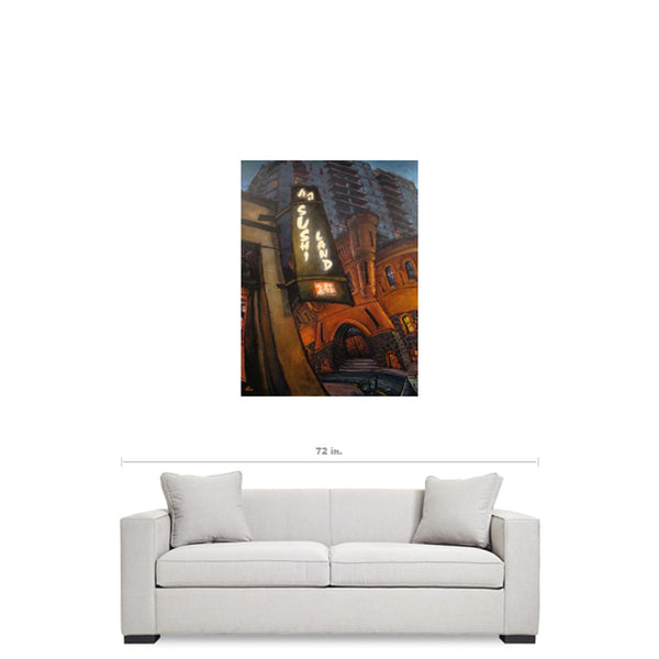 Sushi Land, Gallery Wrapped Canvas Print