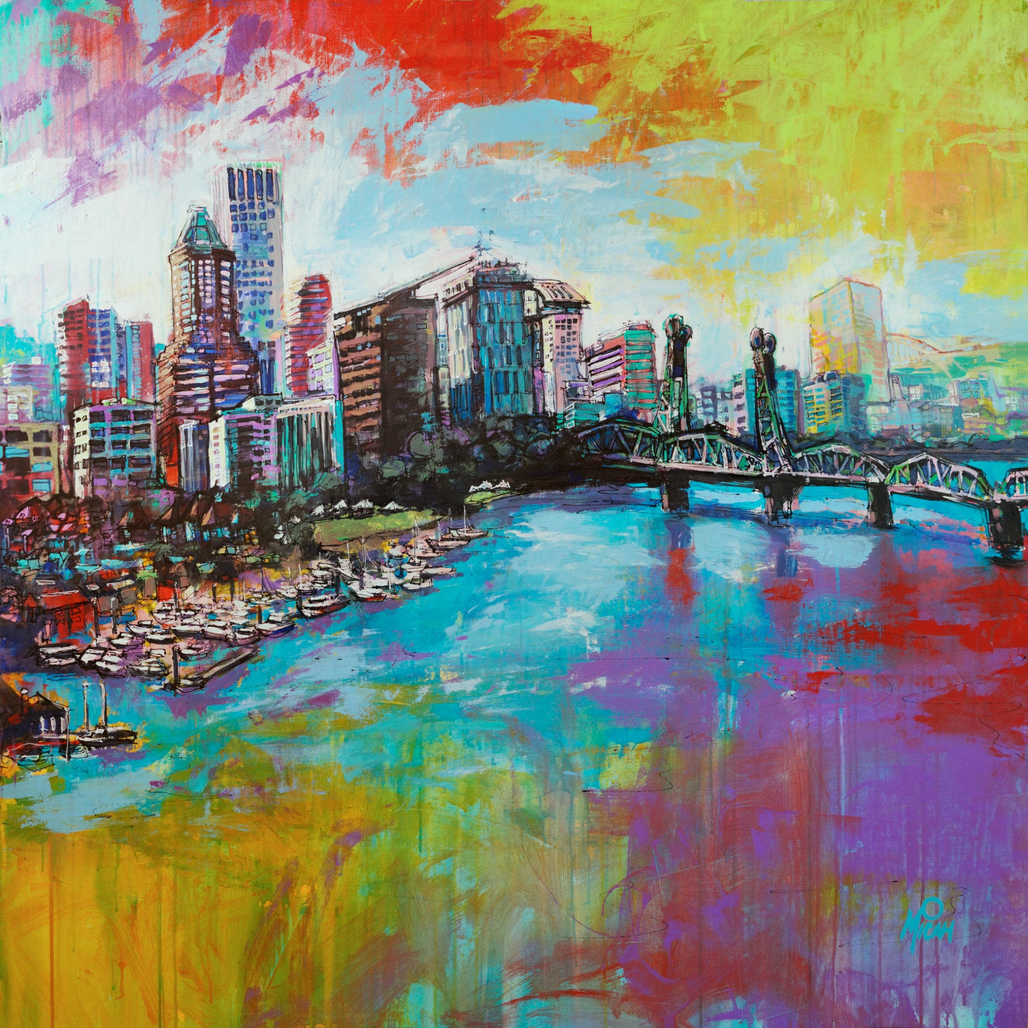 Downtown Portland, Gallery Wrapped Canvas Prints