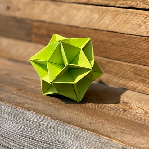 Kusudama star ball in green