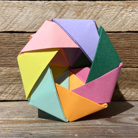 Rainbow robin wheel origami