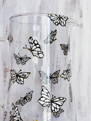 Black & White Dancing Butterfly Pitcher