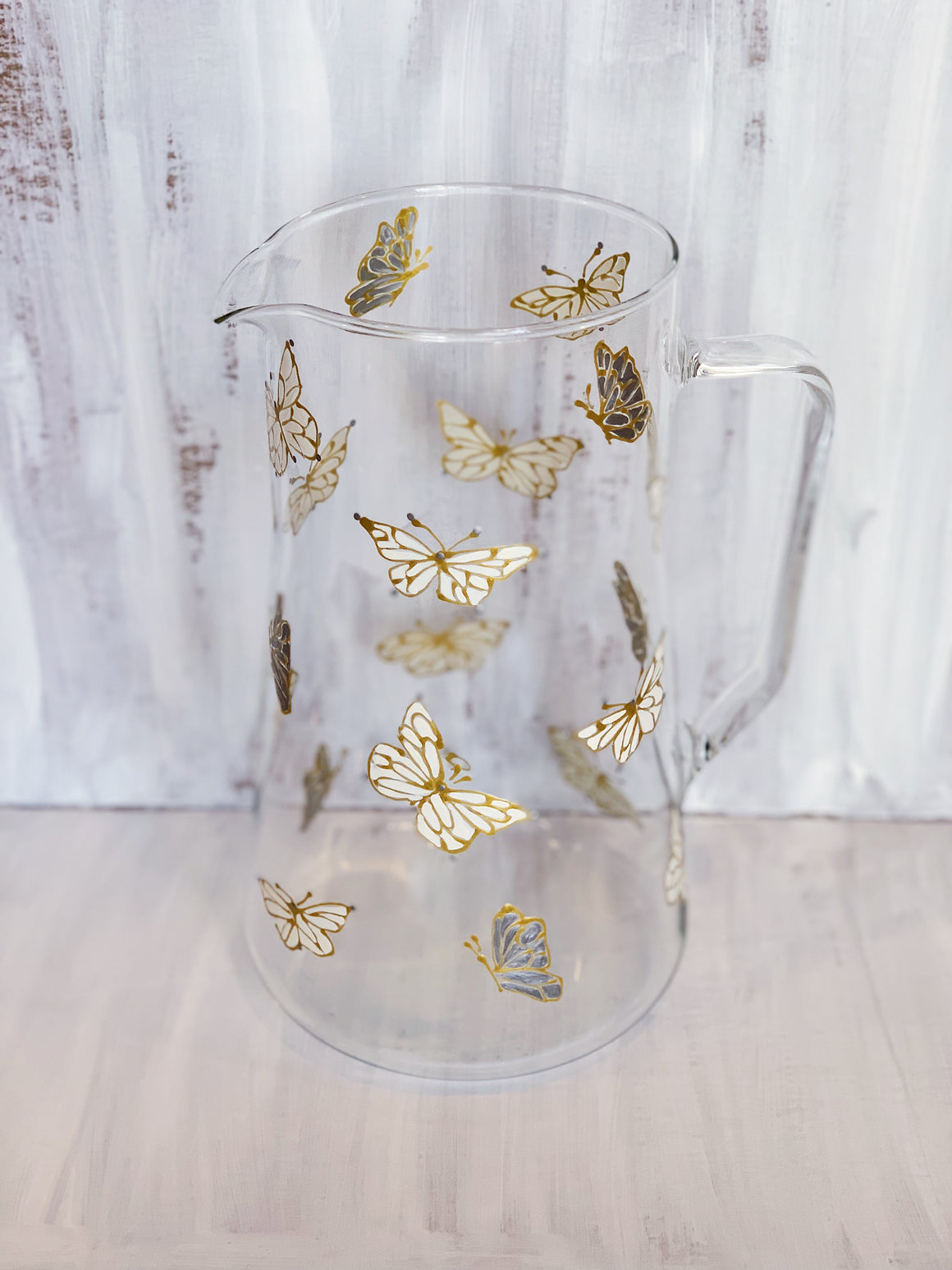 Metallic Dancing Butterfly Pitcher