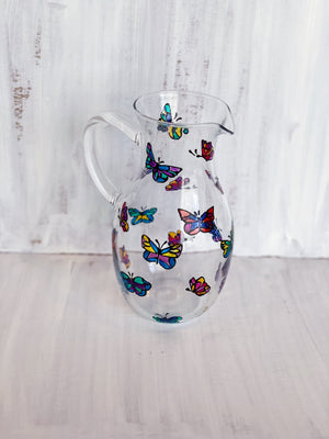 Rainbow Dancing Butterfly .5 QT Pitcher