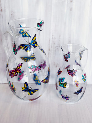 Rainbow Dancing Butterfly 1.5 QT Pitcher