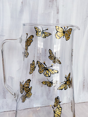 Gold Dancing Butterfly Pitcher