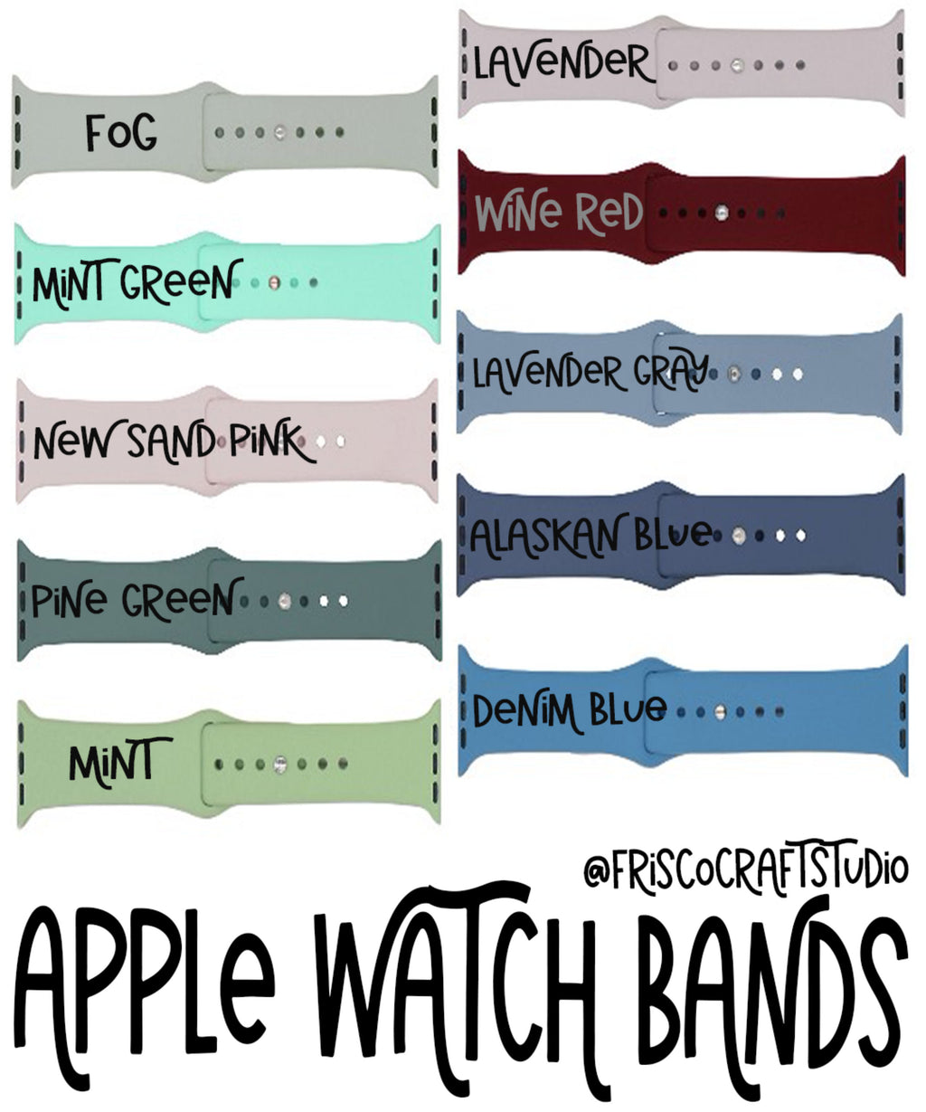 Blank Silicone Watch Bands