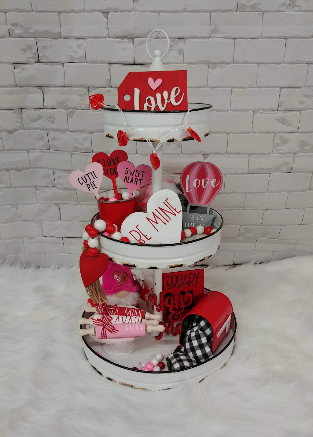 Valentines Tier Tray Set