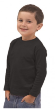 Black Tee Long Sleeve Toddler