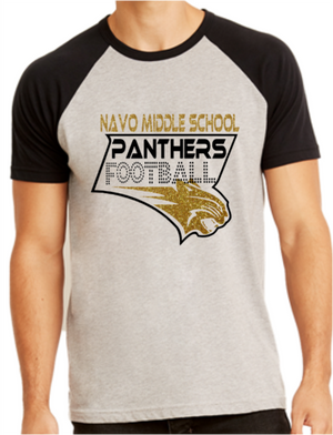 Navo FB Unisex Black & Grey Short Sleeve Raglan