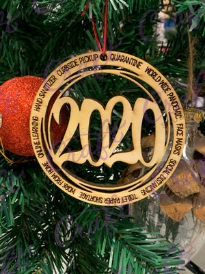 2020 wood ornament