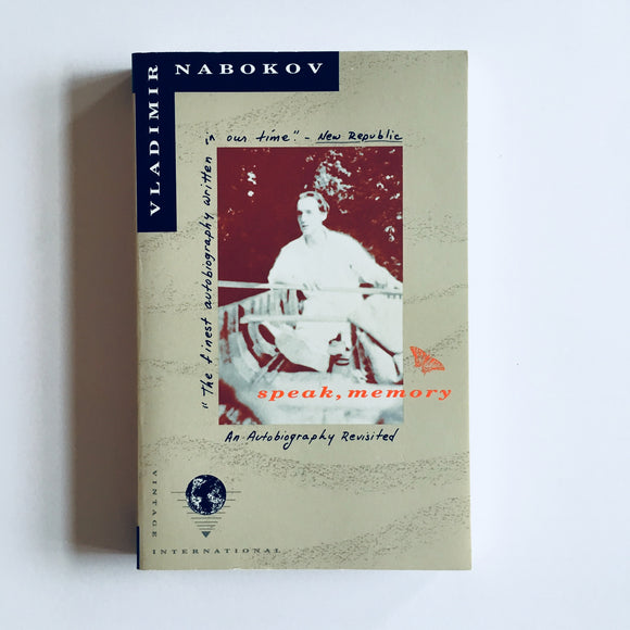 Paperback book: Speak, Memory by Vladimir Nabokov